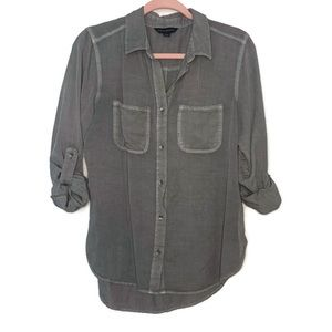 Rock & Republic | Olive Button Down Top